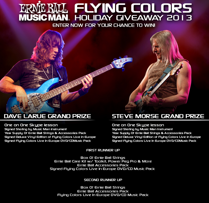 Розыгрыш призов от Ernie Ball Flying Colors