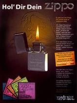 1990 Реклама зажигалки «Zippo»